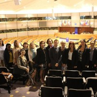 We have just arrived from the visit to the European Parliament where our summer students were briefed about the European Union and its institutions