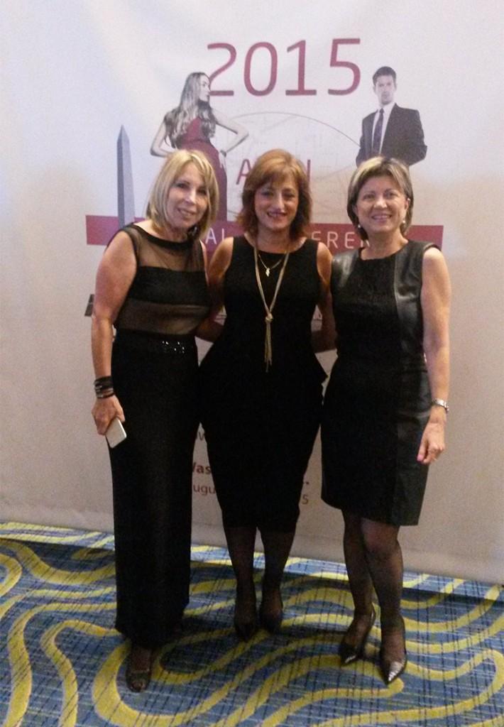 With my Israeli Colleagues at AICI global Conference 2015 WashingtonDC -תמי לבוביץ לנצוט ונורית לוי