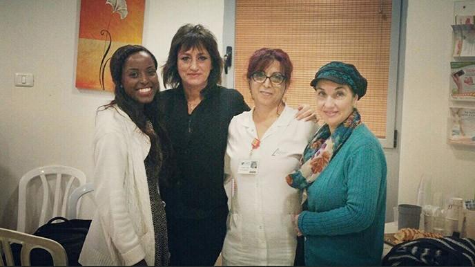 עם צוות בית חולים לניאדו - הרצאה על אופנה וסטיילינג למחלקתת סוכרת